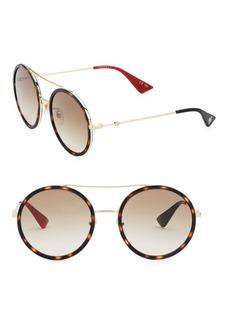 Gucci 56MM Round Wrap Sunglasses