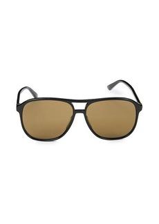 Gucci 58MM Aviator Core Sunglasses
