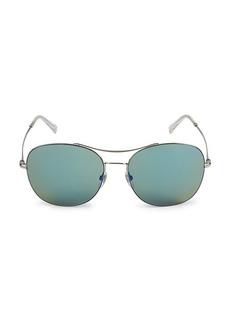 Gucci 58MM Browline Square Sunglasses