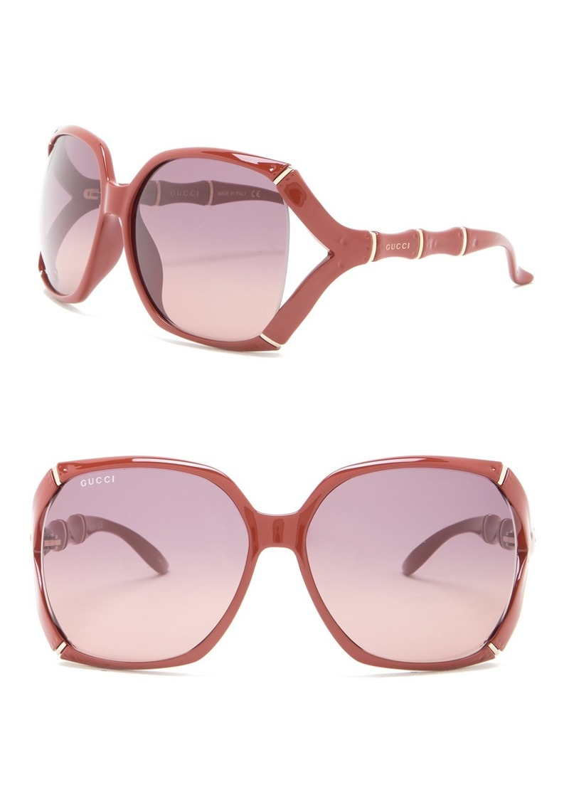 Gucci 58mm Oversized Square Sunglasses