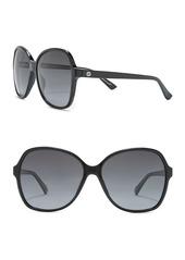 Gucci 58mm Oversize Sunglasses