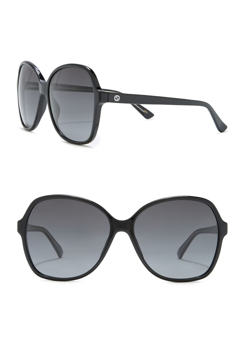 Gucci 58mm Oversize Sunglasses