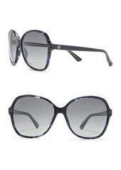 Gucci 58mm Oversized Round Sunglasses