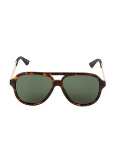 Gucci 59MM Aviator Sunglasses