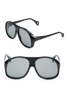Gucci 60MM Exaggerated Frame Sunglasses