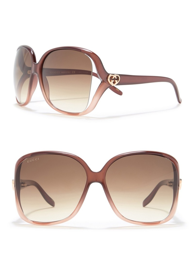 Gucci 60mm Oversized Square Sunglasses