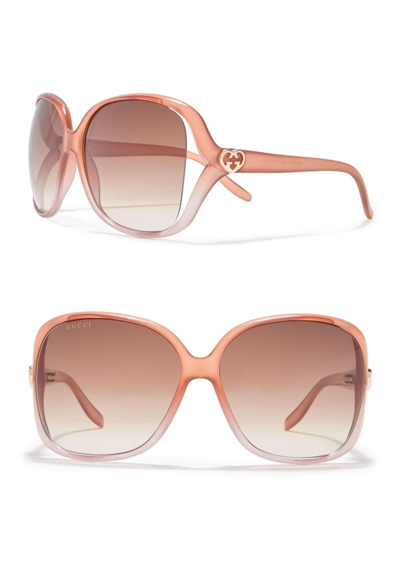 Gucci 60mm Oversized Square Sunglasses