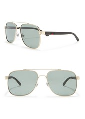Gucci 60mm Rectangle Sunglasses