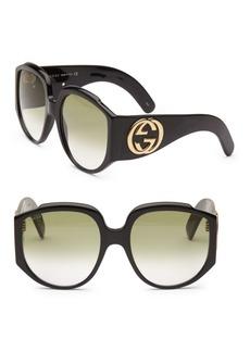Gucci 61MM Oversized Round Sunglasses