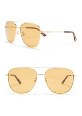 Gucci 61mm Square Sunglasses