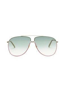 Gucci 63MM Aviator Sunglasses