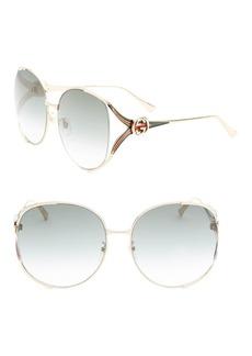 Gucci 63MM Oversized Oval Sunglasses