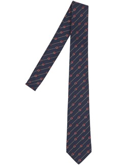 Gucci 7cm Gg Interlocking Silk & Wool Tie