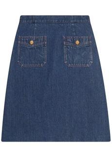 Gucci A-line denim mini skirt