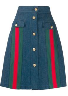 Gucci a-line denim skirt