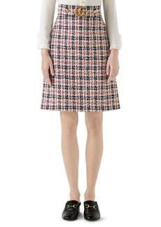 Gucci A-Line GG Skirt