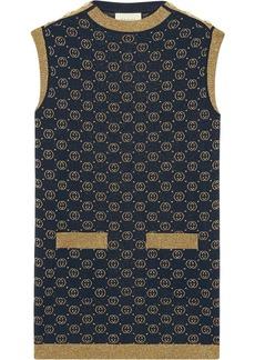 Gucci monogram knitted tank dress