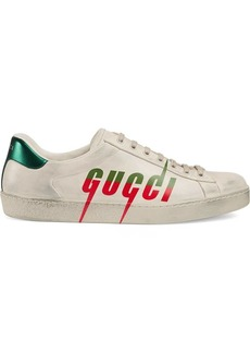 Gucci Ace distressed sneakers