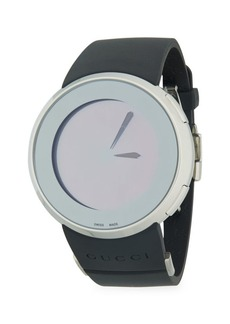 Gucci Analog Stainless Steel Rubber Strap Watch