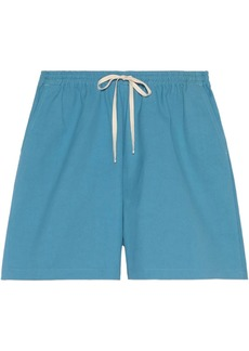 Gucci animal-embroidered cotton shorts