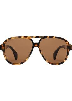 Aviator sunglasses with Gucci stripe