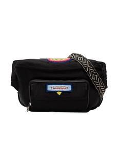 Gucci badge embellished crossbody bag