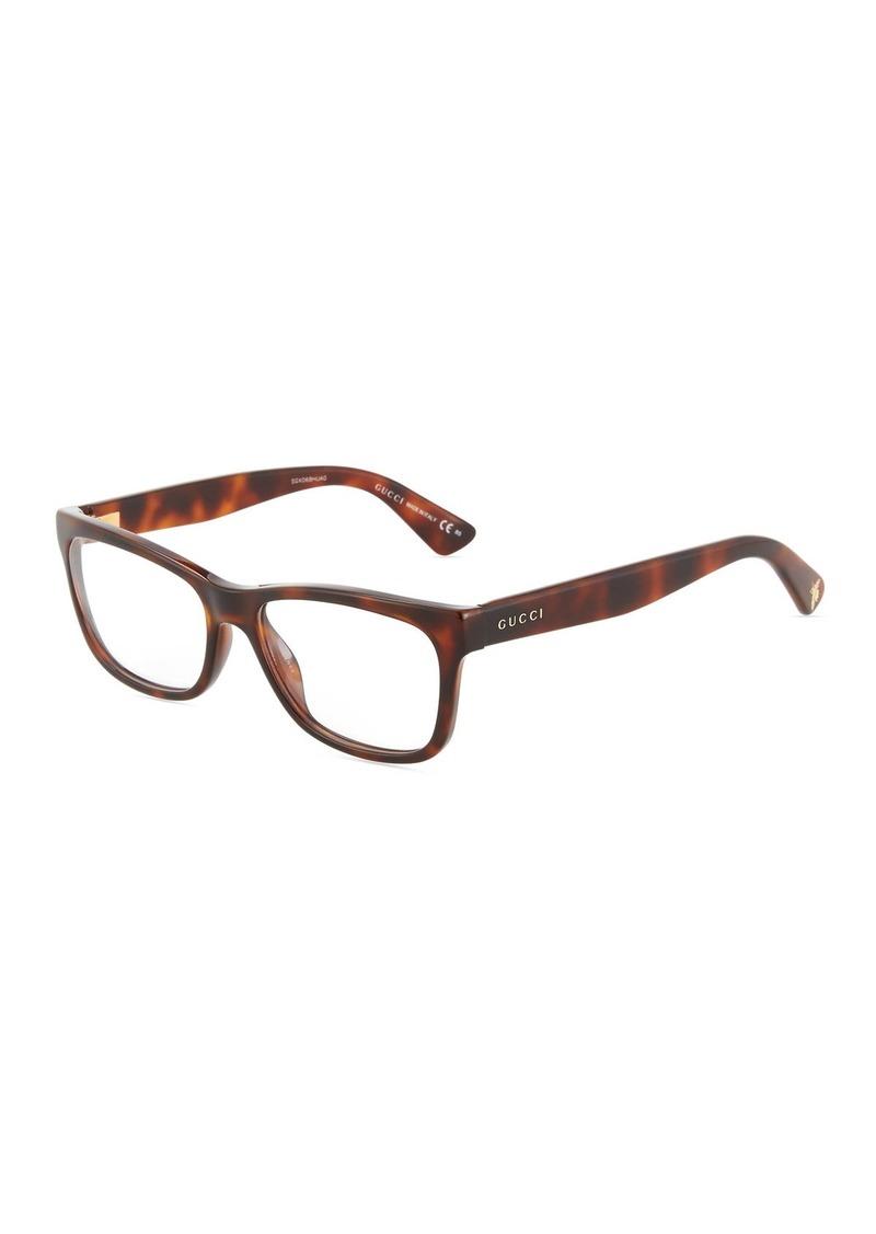 65029d5765631 Gucci Bamboo-Motif Square Optical Glasses