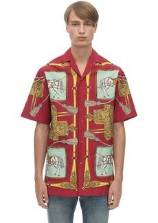 Gucci Baroque Sellier Nylon Bowling Shirt