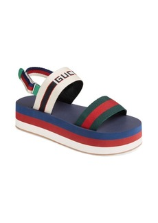 Gucci Bedlam Double Strap Flatform Sandals