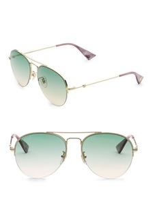 Gucci Bee 56MM Pilot Sunglasses