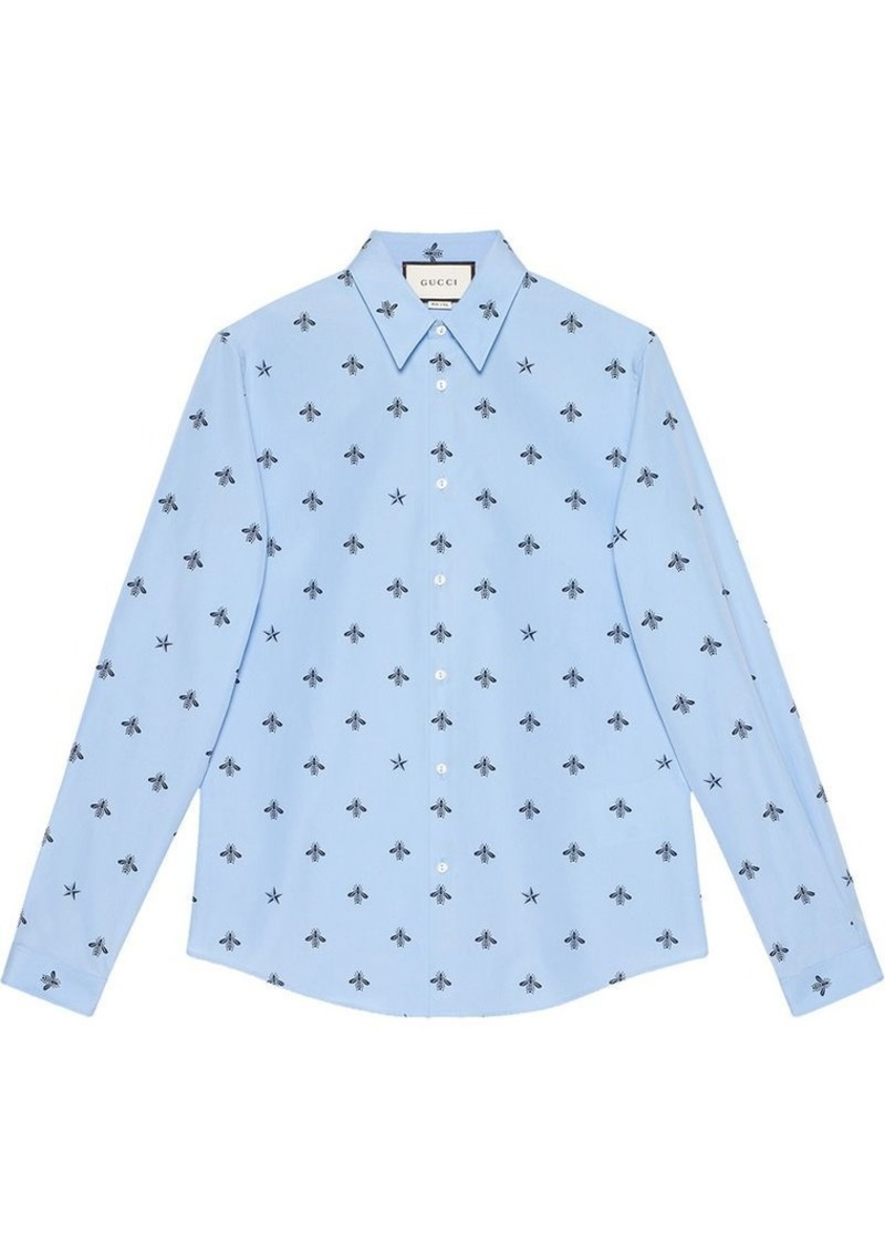 ce023ca7052c Gucci Bee star cotton Duke shirt | Casual Shirts