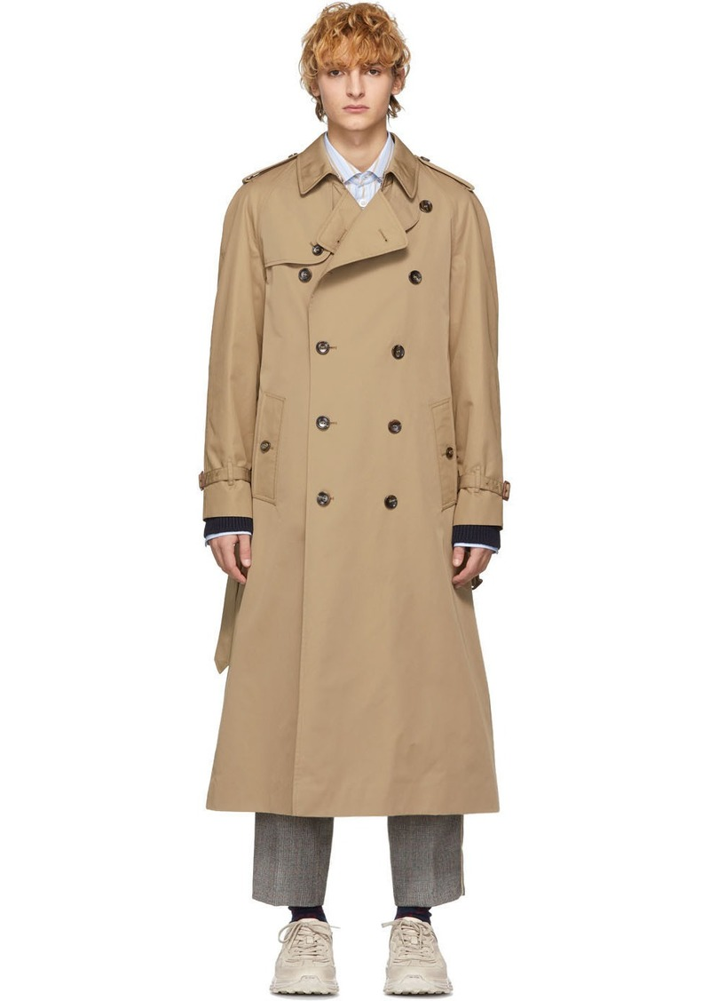Gucci Beige 'Chateau Marmont' Trench Coat