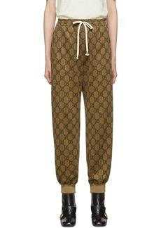 Gucci Beige GG Logo Lounge Pants