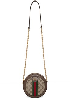Gucci Beige GG Supreme Round Ophidia Shoulder Bag