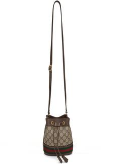 Gucci Beige Mini GG Ophidia Bucket Bag