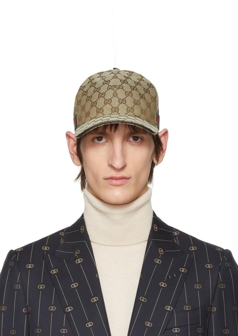Gucci Beige Original GG Baseball Cap