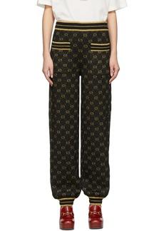 Gucci Black & Gold Drawstring Lounge Pants