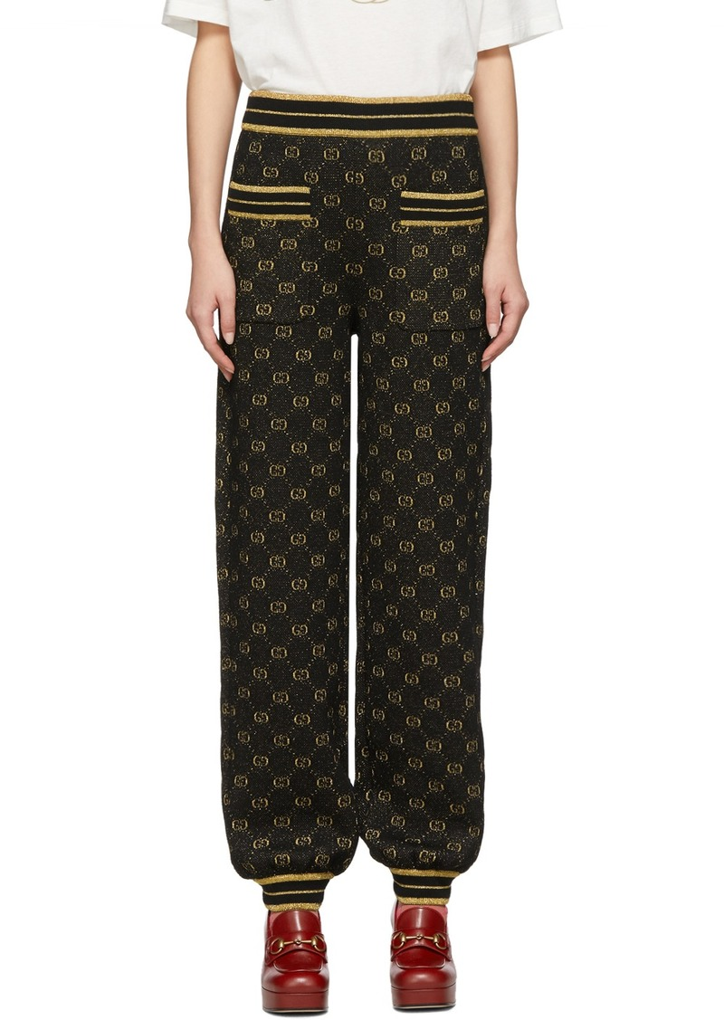 Gucci Black & Gold Drawstring Lounge Pants