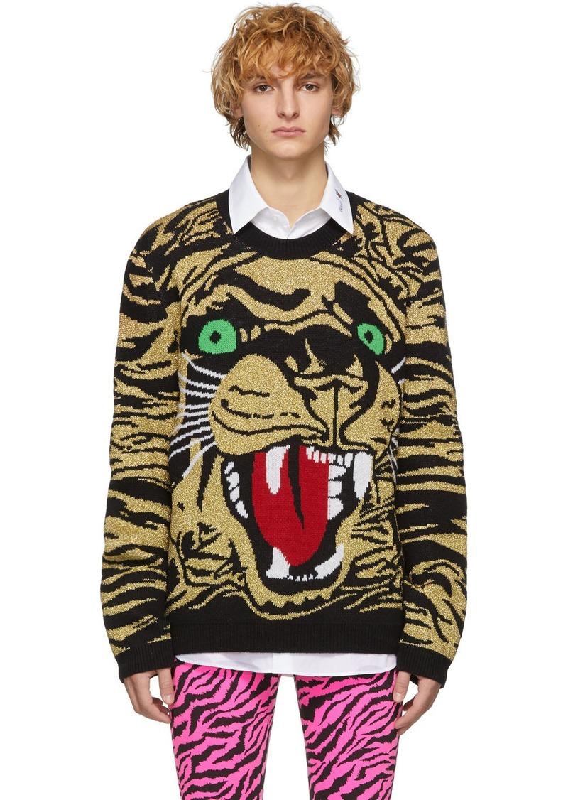 Gucci Black & Gold Jacquard Tiger Sweater