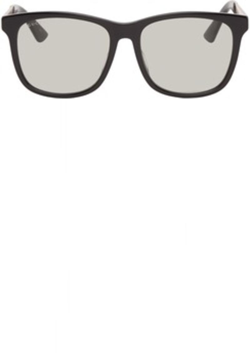 Gucci Black & Gold Square Sunglasses