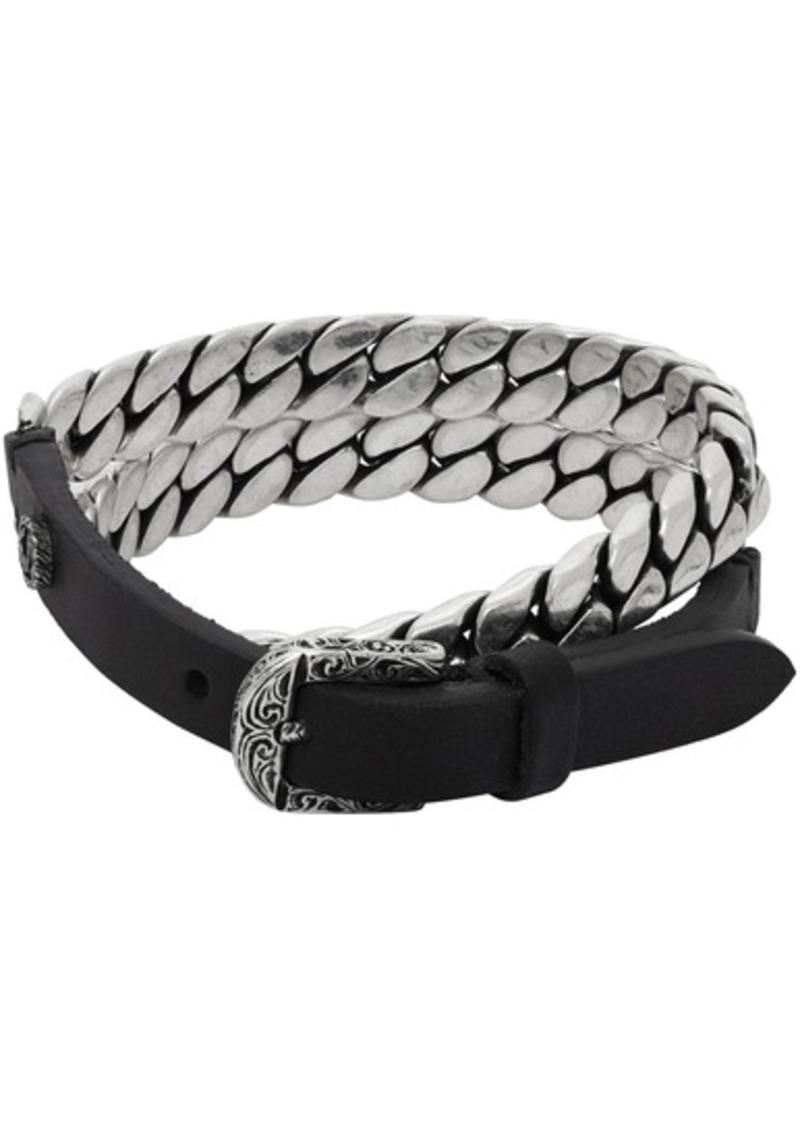 Black & Silver 'Gucci Garden' Bracelet