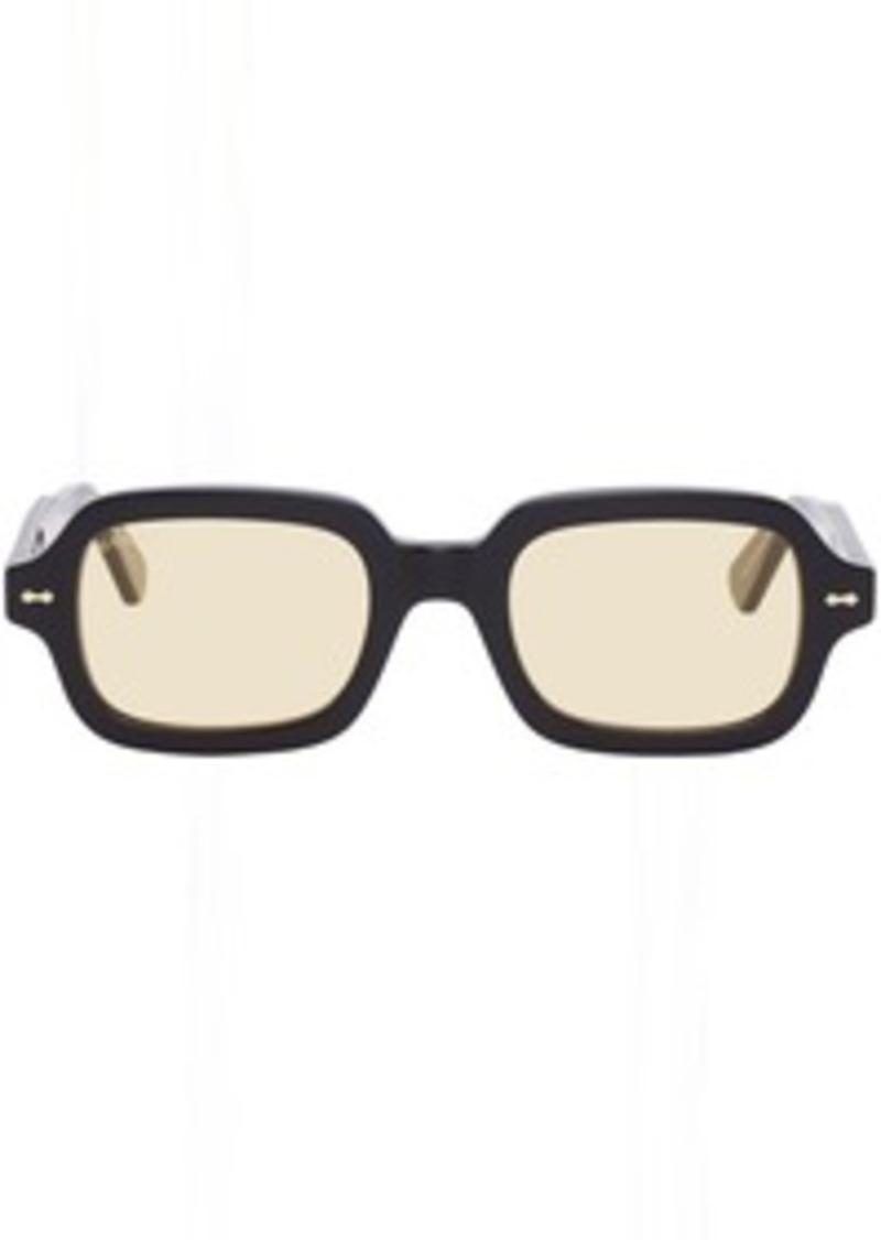 Gucci Black & Yellow Rectangular Sunglasses