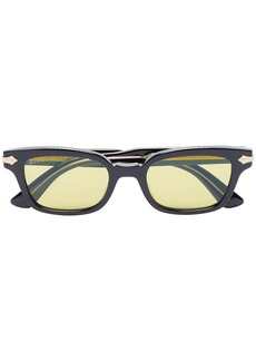 Gucci black acetate yellow lens sunglasses