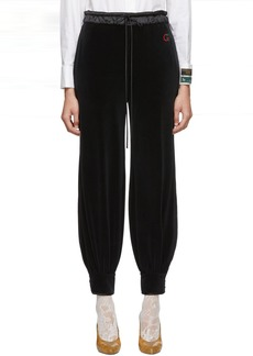 Gucci Black Chenille Jogging Lounge Pants