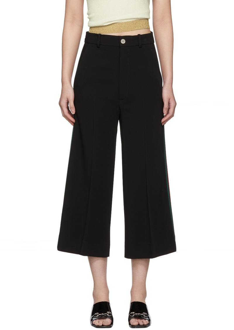 Gucci Black Culotte Trousers