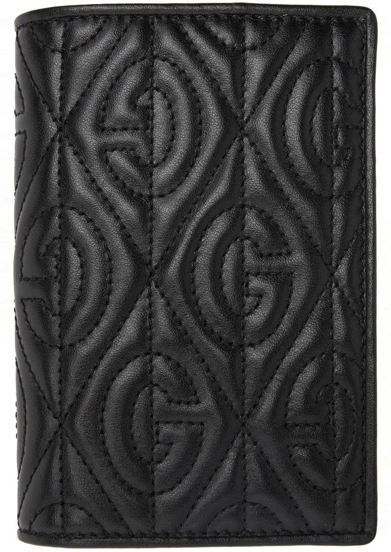 Gucci Black G Rhombus Passport Holder