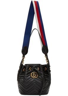 Gucci Black GG Marmont 2.0 Bucket Bag