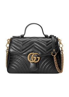 Gucci black GG Marmont small top handle bag