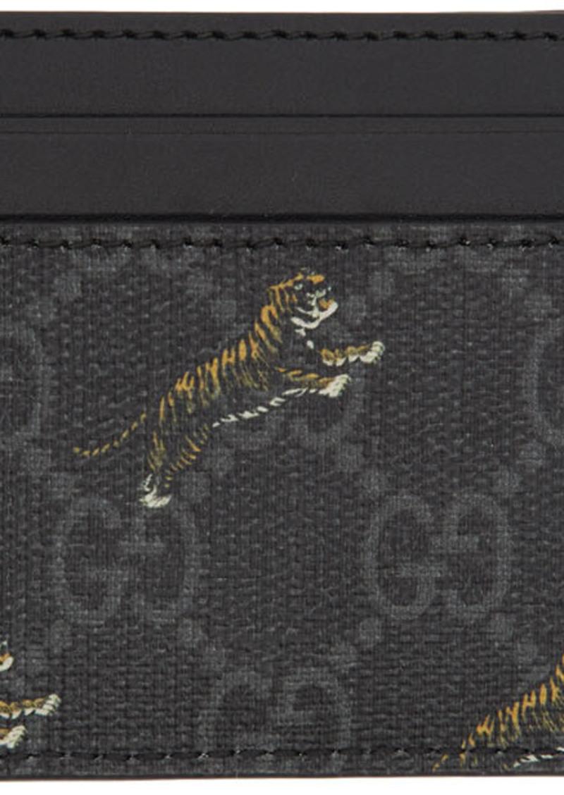 Gucci Black GG Tiger Card Holder