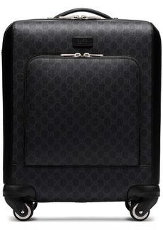 Gucci black Gran Turismo GG Supreme leather trimmed canvas holdall